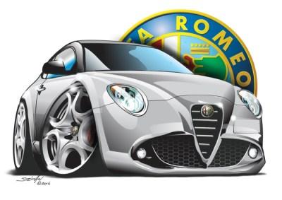 italian classics, cartoon car drawings, cartoon car art
