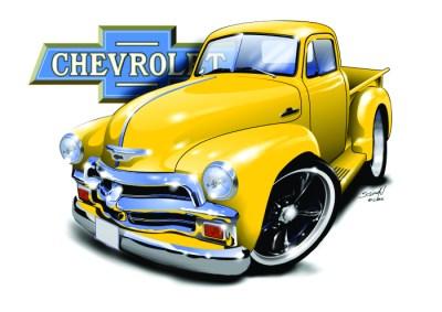 Chevy Truck - Yellow