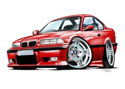 E36 BMW M3 - Red