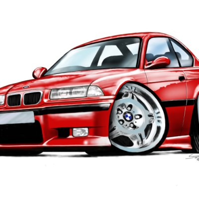 E36 BMW M3 - Red, my blog,
