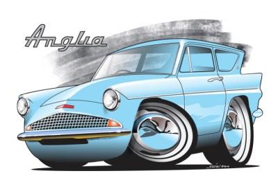 Ford Anglia Blue