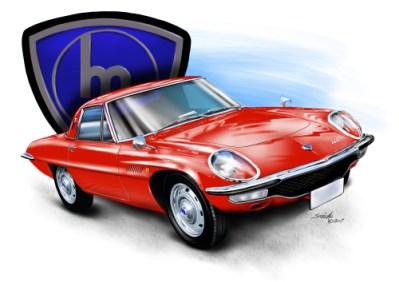Mazda, car drawings, car art,