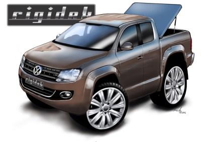 VW Amarok, cartoon car drawings, car art,