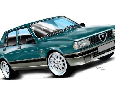 83 Alfa Giulietta green,