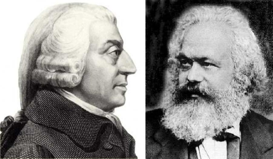 Karl Marx and Adam Smith