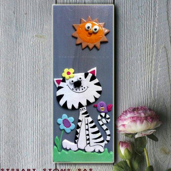 Картина за детска стая Котето Божко