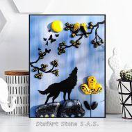картина декорация за дома вълк