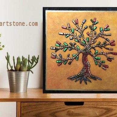 Арт пано за стена Дървото на живота 50/50 см