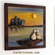 пано пейзаж изкуство с камъни