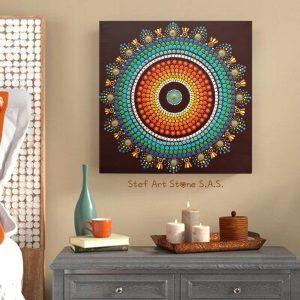 Декоративно пано с ръчно рисувана мандала