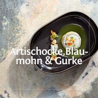 Das Kochbuchrezept: Artischocke, Blaumohn und Gurke