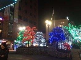 Lichterketten beim Hamilton in Seoul
