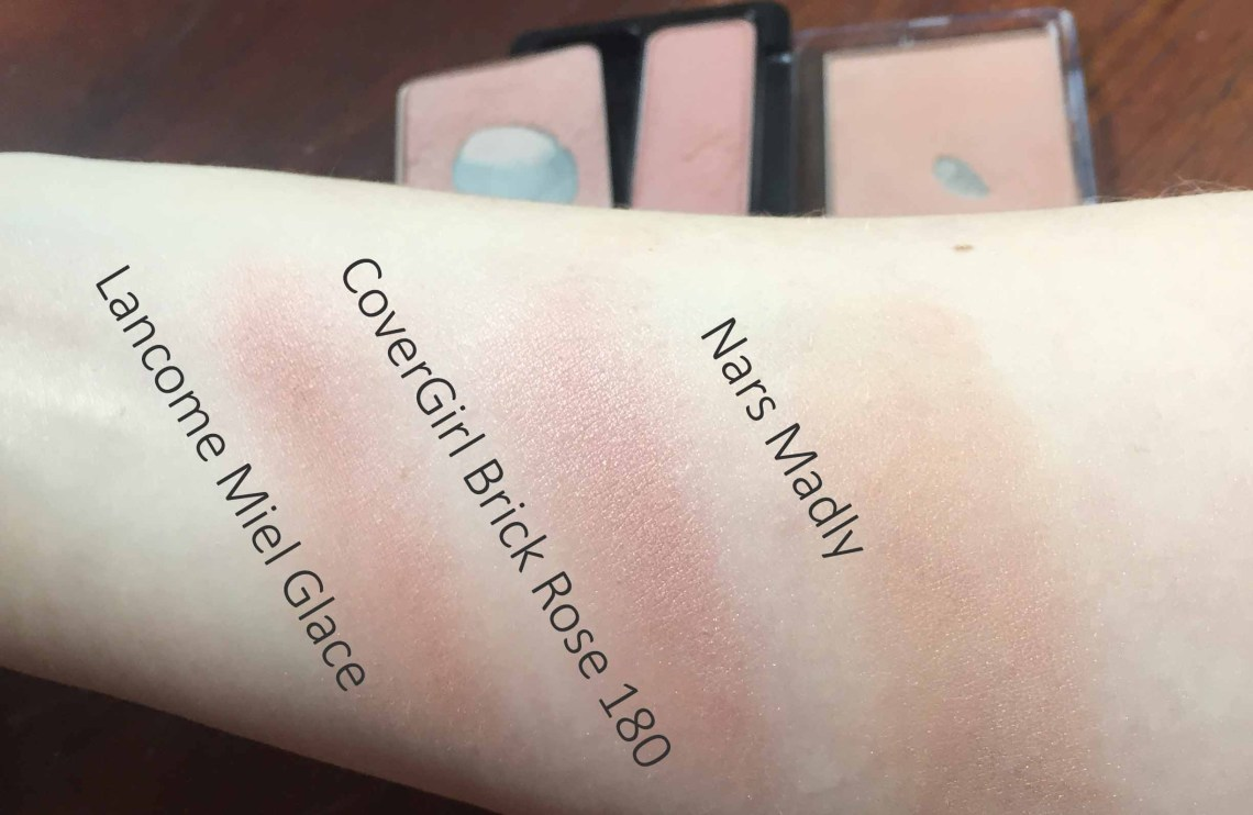 Drugstore Dupe for Lancome Miel Glace: CoverGirl Cheekers 180 in Brick Rose