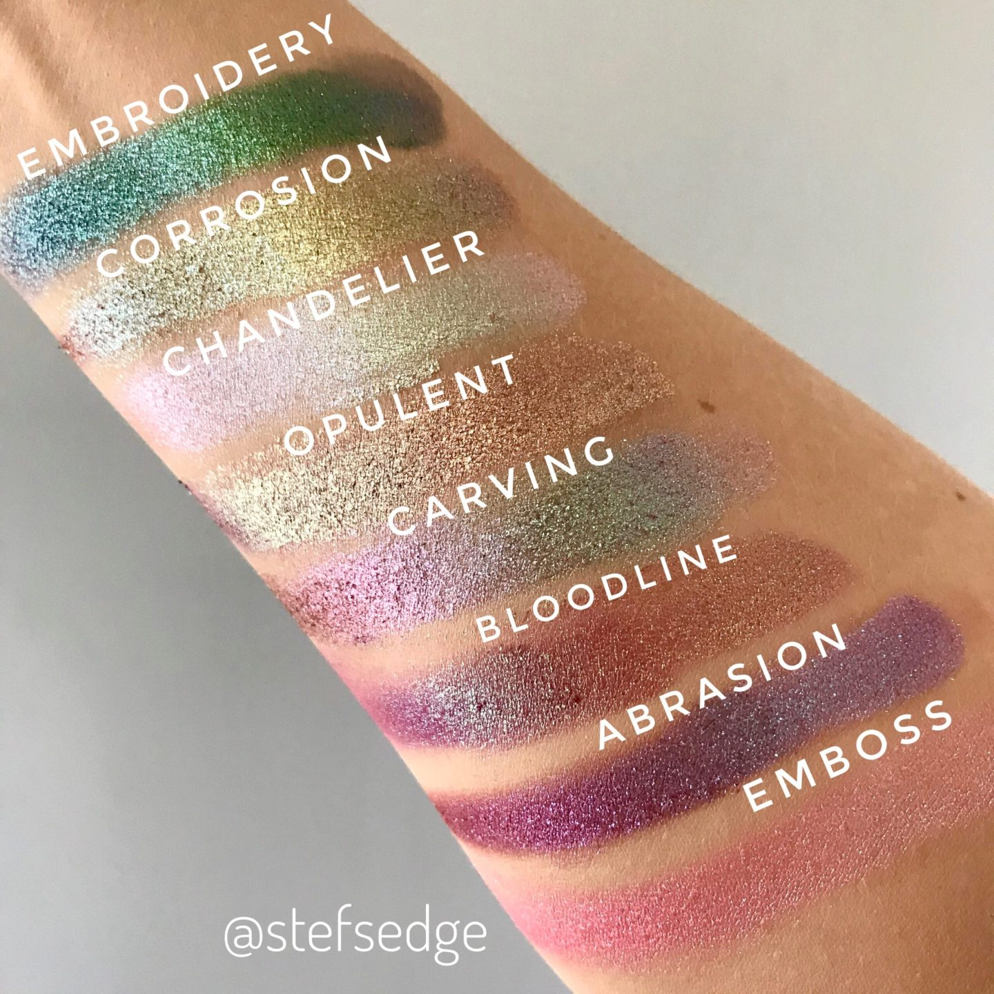 Clionadh Stained Glass Eyeshadow Swatches