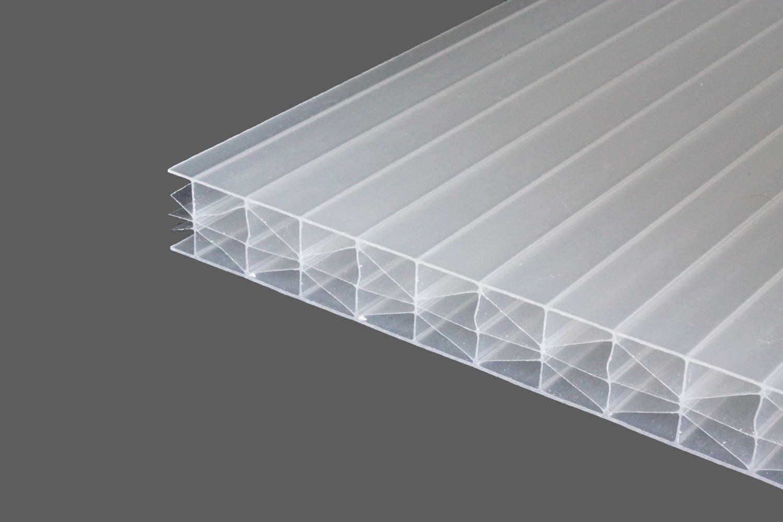polycarbonat doppelstegplatten 16 mm opal wei longlife x struktur stegplattenversand. Black Bedroom Furniture Sets. Home Design Ideas