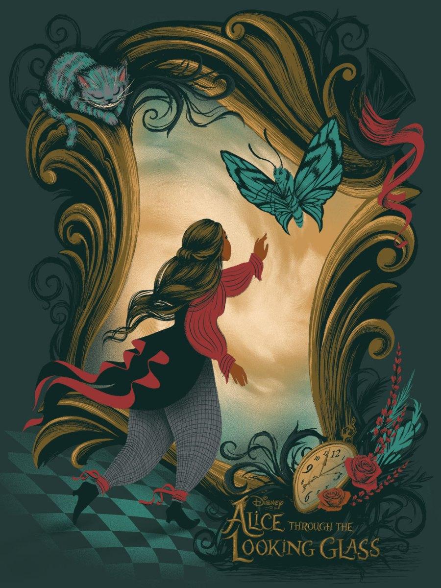 ilustrações de alice noa pais do espelho - alice thought the looking glass 6