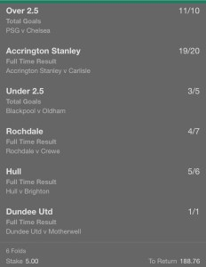 6 Fold Accumulator - 36/1