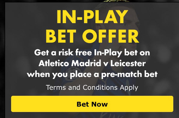 Athletico Madrid v Leicester City - Guaranteed Winning Bet