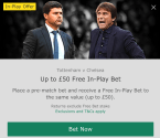 Tottenham Hotspur v Chelsea - GUARANTEED WINNER !!