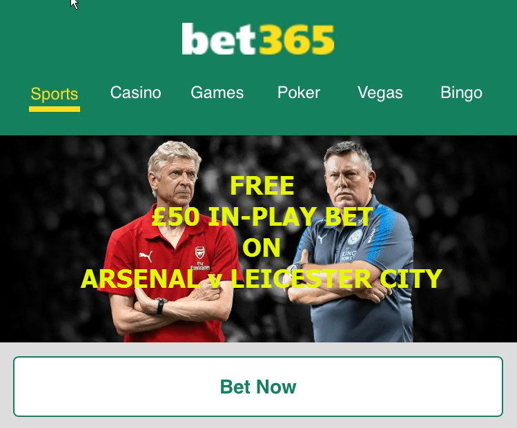 Arsenal v Leicester City - Guaranteed Winning Bet