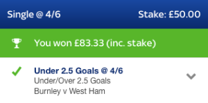 Members Area Winner - 14th October - 3 out of 3 Winning Bets