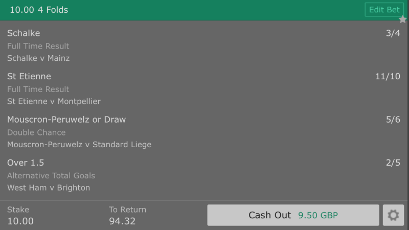 Footy Accumulator Friday Night Four Fold - 8.4/1