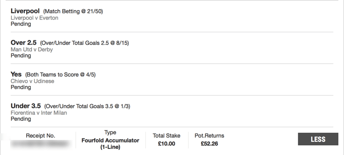 Footy Accumulator - Friday 4 Fold - 4.2/1