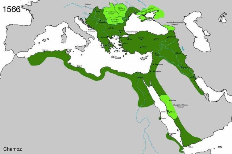 Det osmanske riket ved Suleyman 1s død
