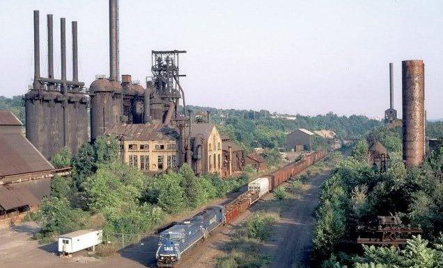 Youngstown, Ohio var en gang et viktig senter for stålindustrien