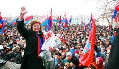 Natalia Vitrenko under et kampanjemøte