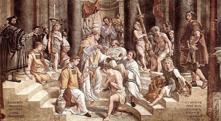 Konstantins dåp, utsnitt, klikk på bildet for større versjon