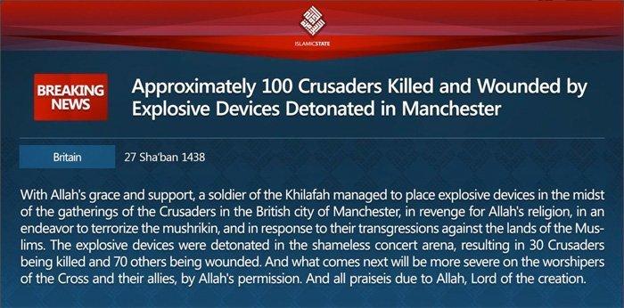 Manchester og den islamske statens krig mot Europa