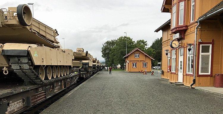 USAs krigsmaskin på skinnene i Norge