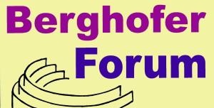 Berghofer Forum Logo auf gelb