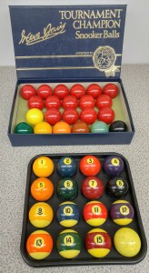 Pool ball and snooker ball sets included