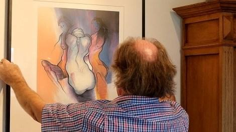 """""""Drei Frauen"""" - Geschichten um die 11. Afra-Lithographie, Foto: Knut Kuckel"""