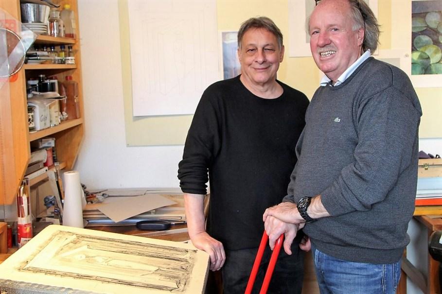Leander Kaiser mit Günther Stecher. Foto: Clemens Stecher