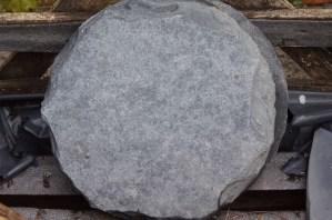Trittstein Platten schwarz rund ca. 40cm Durchmesser