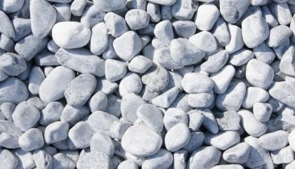 Marmor – Eisblau Kies 25-40mm