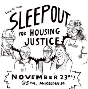 Sleepout for Housing Justice