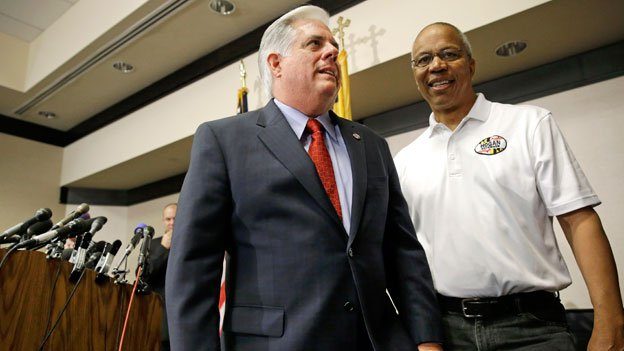 Governor-elect Hogan and Boyd Rutherford