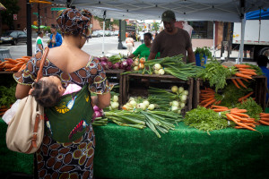 Farmer's market in Bedford Stuyvesant, Brooklyn, NEW YORK.