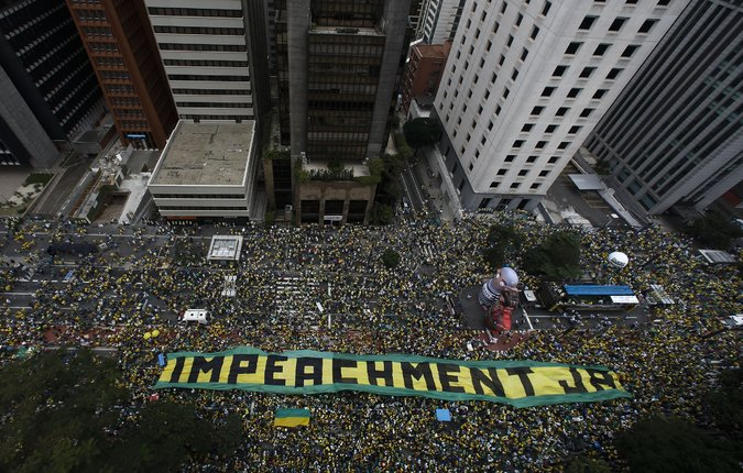Brazil Political Protest (Credit: The Guardian)