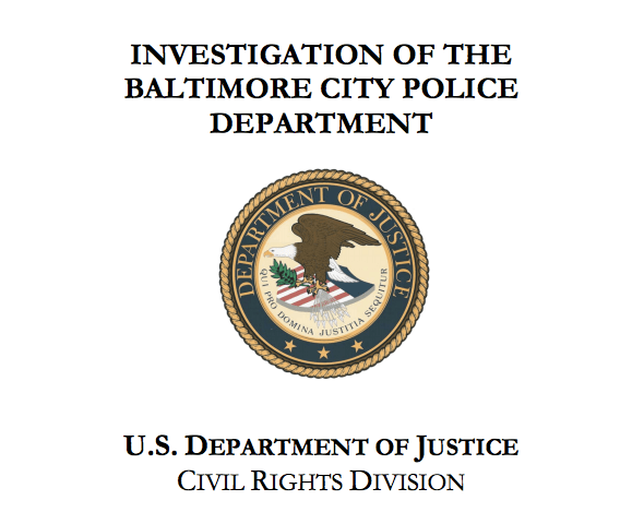 DOJ Investigation into the Baltimore City Police Department