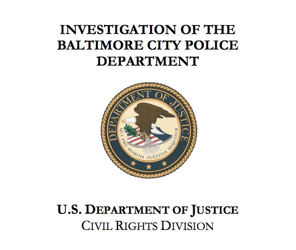 DOJ Investigation into the Baltimore City Police Department