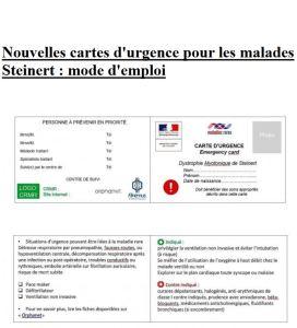 carte d'urgence Steinert