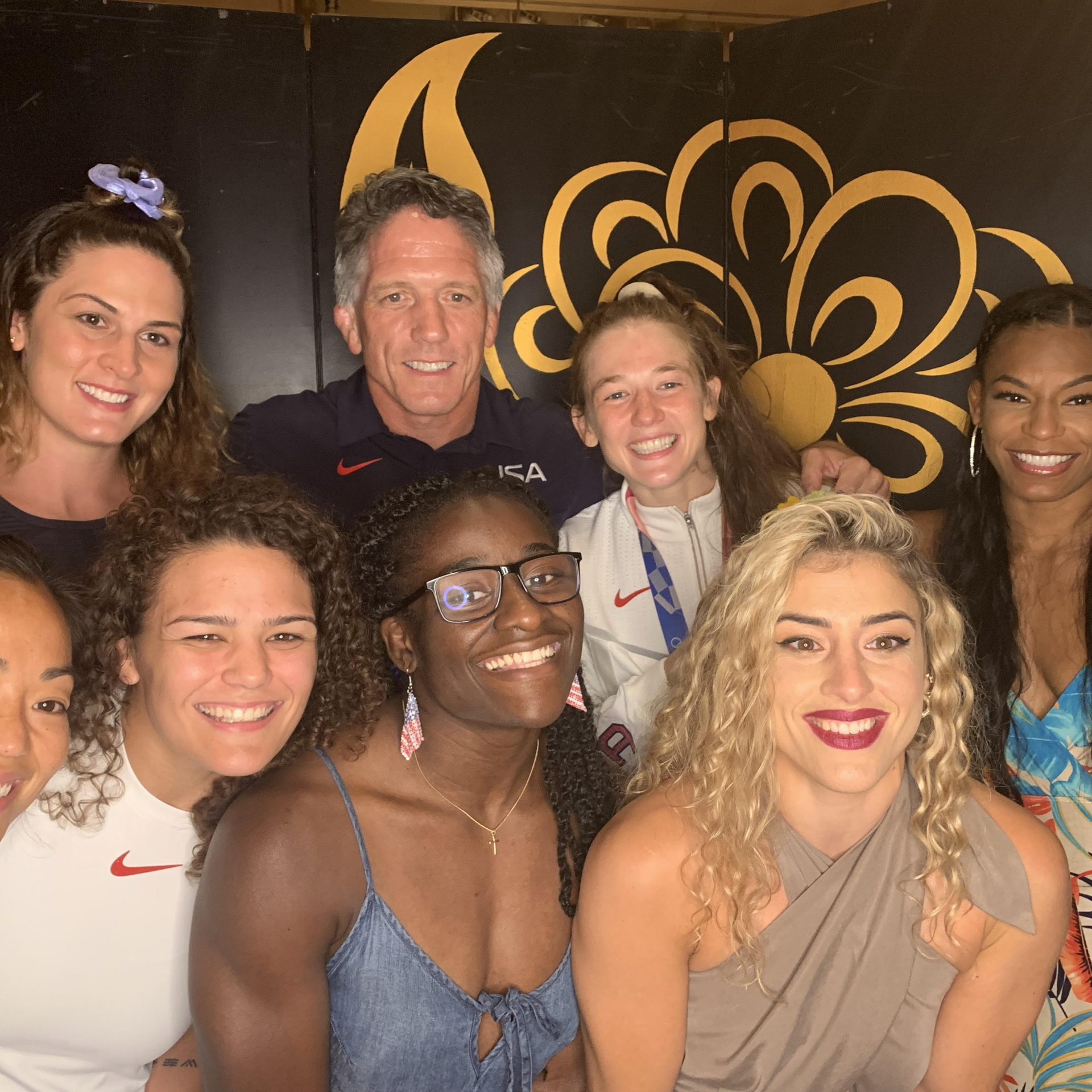 2020 women wrestling team on night out