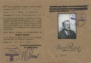 Ausweis als Grabmalhersteller, 1938