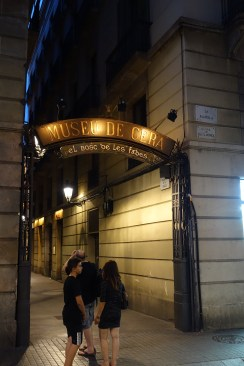 Wax museum with entrance from La Rambla.