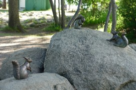 Squirrel Statues at Stocholm Friluftsmuseum (Open Air Museum)
